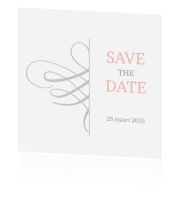Chique Save the Date kaart met ornament