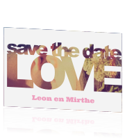 Gave save the date met eigen foto