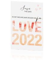Sierlijke save the date met aquarelletters
