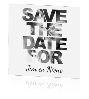 Save the date met fotoletters