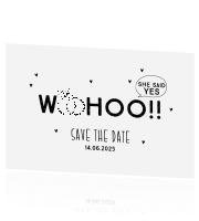 Save the Date kaart Woohoo