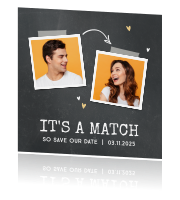 Save the Date Tinder Match