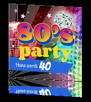 thema voor feest 40 jaar Uitnodiging 80s party thema voor feest 40 jaar