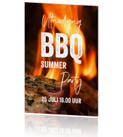 Uitnodiging tuinfeest BBQ party