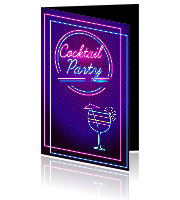 Uitnodiging cocktail party met neon