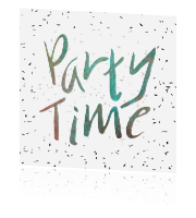 Uitnodiging party time met confetti