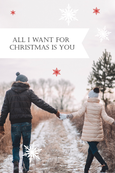 Staande save the date - All I want for Christmas is you