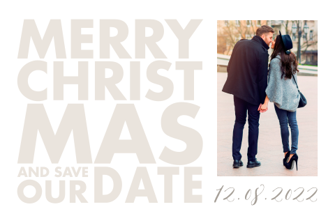 Kerst Save the Date kaart