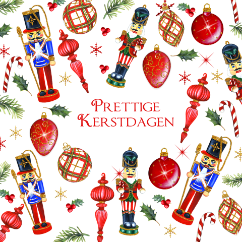 Kerst notekrakers ornamenten