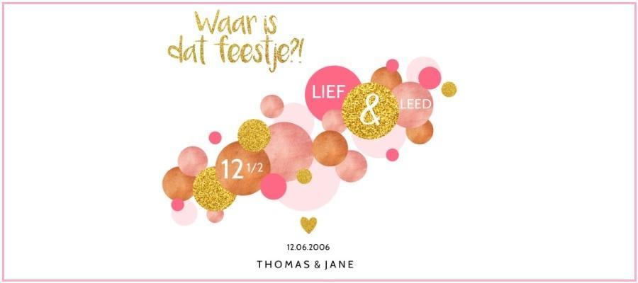 12,5 jaar getrouwd: tips voor jullie feest