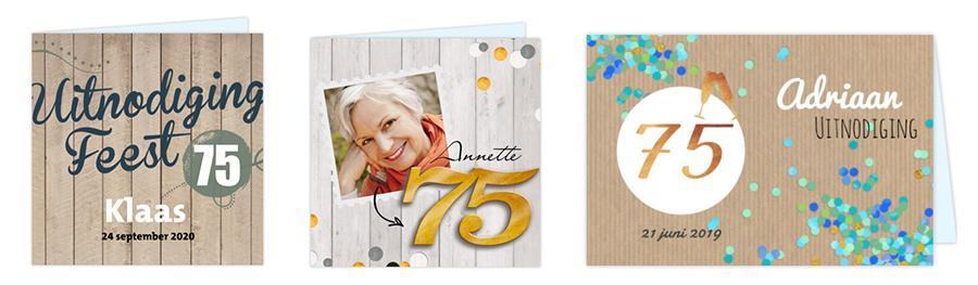 75 Jaar Verjaardag Zo Maak Je Een Uitnodiging Voor Een 75ste