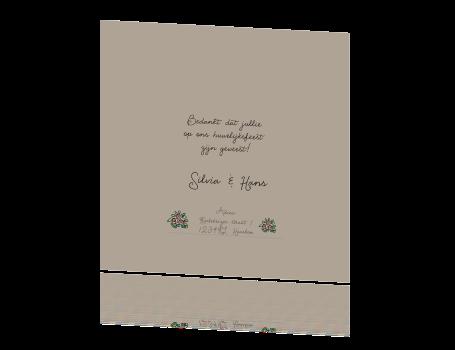 Voorkeur Lieve bedankkaart met illustratie van bruidspaar @VR06