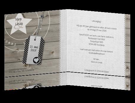 40 jarig jubileum kaart Uitnodiging 40 Jarig Huwelijk Tekst   ARCHIDEV 40 jarig jubileum kaart