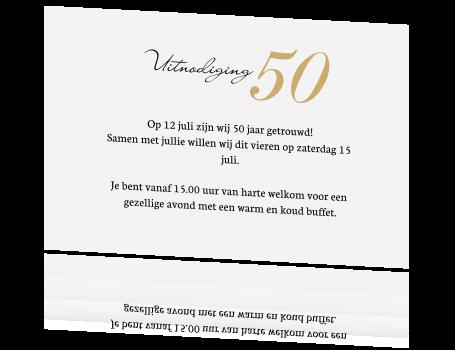 Verwonderend 50 jaar getrouwd uitnodiging met bloemen en kraft ZU-67