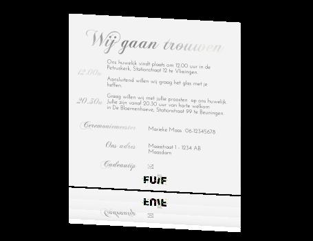 Klassieke Uitnodigingskaart Bruiloft