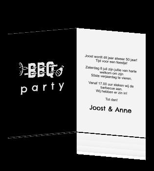 Goede Stoere uitnodiging voor een bbq feestje PF-45