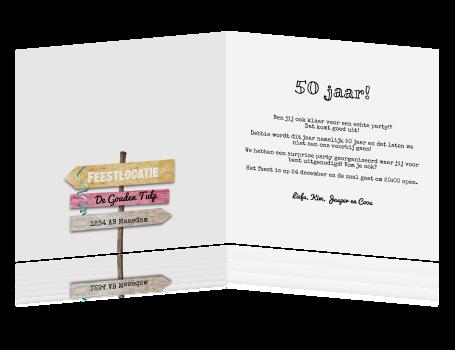 uitnodiging tekst verjaardag 50 jaar Leuke Tekst Verjaardagskaart 50 Jaar   ARCHIDEV uitnodiging tekst verjaardag 50 jaar