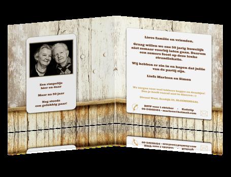 uitnodiging 50 jarig jubileum Houtlook uitnodiging 50 jaar getrouwd uitnodiging 50 jarig jubileum