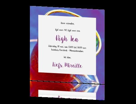 uitnodiging voor een high tea met muntthee foto