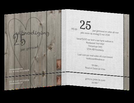 25 jarig jubileum uitnodiging Uitnodigingen 25 Jarig Huwelijksfeest   ARCHIDEV 25 jarig jubileum uitnodiging