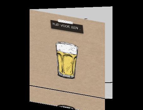 Verjaardagskaart Voor Een Man Tijd Voor Een Biertje