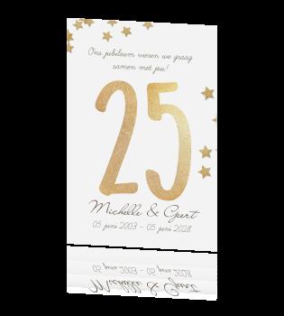 25 Jaar Getrouwd Grote Collectie Uitnodigingen