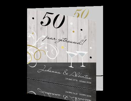 uitnodiging maken voor 50 jaar getrouwd 50 jaar getrouwd uitnodiging met hout en confetti uitnodiging maken voor 50 jaar getrouwd