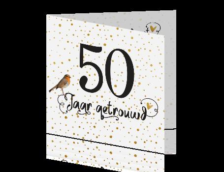 50 jaar getrouwd kaart Feestelijke fotokaart uitnodiging voor 50 jaar getrouwd 50 jaar getrouwd kaart