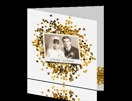 50 jaar getrouwd goud Uitnodiging 50 jaar getrouwd met goud en foto 50 jaar getrouwd goud