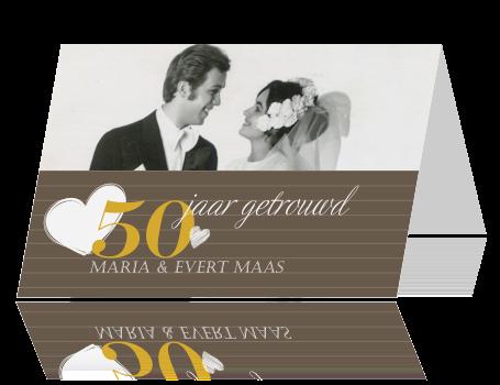 50 jaar getrouwd kaart Jubileum Kaart   50 jaar getrouwd