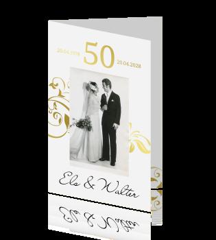 50 jaar getrouwd kaart Huwelijksjubileum 50 jaar met persoonlijke foto 50 jaar getrouwd kaart