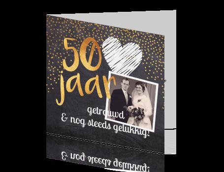 50 jaar jubileum goud Uitnodiging 50 jarig jubileum met goud op krijtbord 50 jaar jubileum goud