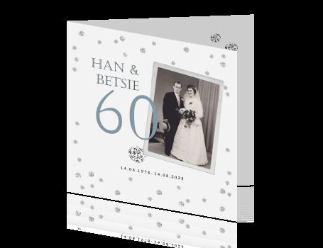 50 jaar getrouwd diamant Uitnodiging zestig jaar getrouwd met confetti van diamanten 50 jaar getrouwd diamant