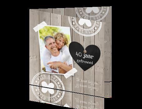 40 jaar getrouwd kaart maken Uitnodigingen Maken 40 Jaar Huwelijk   ARCHIDEV 40 jaar getrouwd kaart maken