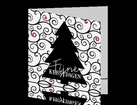 Sierlijke Kerstkaart Met Kerstboom
