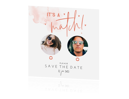 Save the Date card Tinder I It's a match