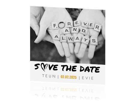 Save the Date fotokaart
