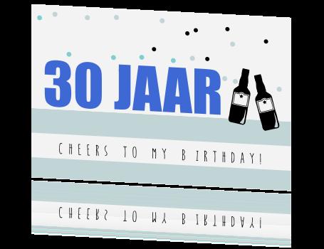 Stoere Uitnodiging Voor Je De 30e Verjaardag