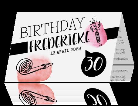 Vrolijke Uitnodiging Voor Je 30e Verjaardag