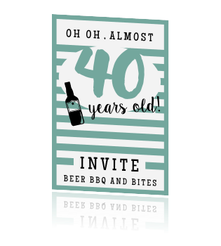 Fabulous Uitnodiging 40 jaar BG95
