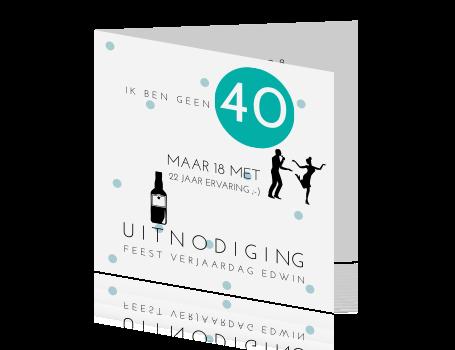 uitnodiging voor 40 jaar Feestelijke rustige uitnodiging 40 jaar uitnodiging voor 40 jaar