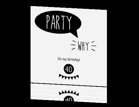 Voorkeur Leuke speelse uitnodigingskaart voor feestje @QY23