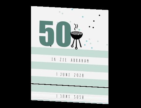 Populair Uitnodiging voor je 50e Abraham verjaardag! #YY24