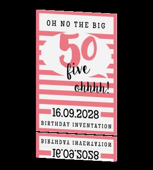 Geliefde Uitnodiging voor je 50e Sarah verjaardag! &PS47