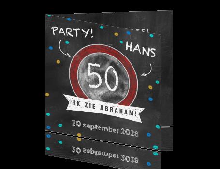 Tekst Voor Uitnodiging 50 Jaar Abraham