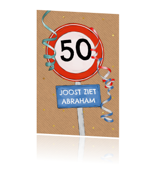 Uitnodiging 50 Jaar Maken Abraham En Sarah Kaarten Op Fuif