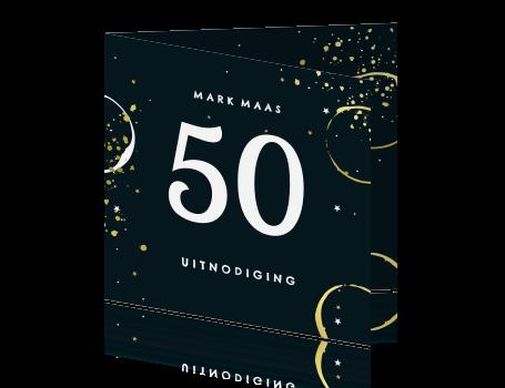 Uitgelezene Uitnodiging 50 jaar verjaardag met grote vijftig CW-54