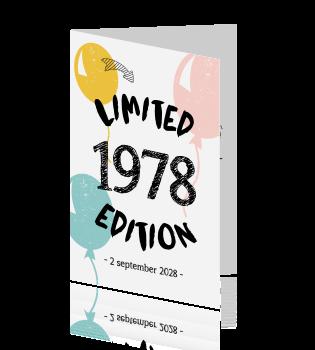 uitnodiging 50 jaar sarah Uitnodiging 50 jaar limited edition uitnodiging 50 jaar sarah