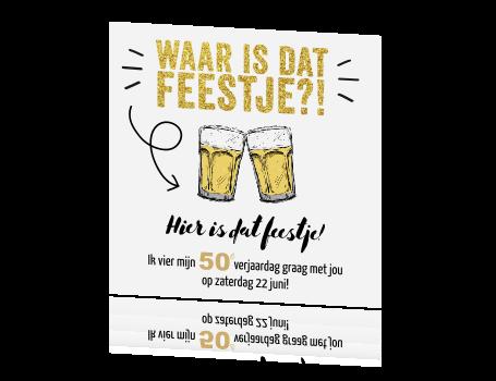 Uitnodiging Maken 50e Verjaardag Met Glitter En Bier