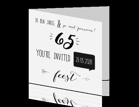 Uitnodiging 65 Jaar Kaart Maken Op Fuif